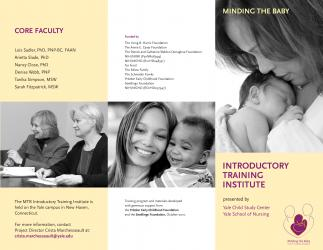 Brochure for a program at the School of Nursing and Child Study Center
