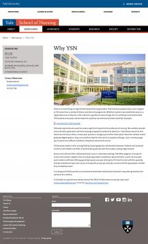 School of Nursing web site
